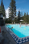 The historic swimming pool at the Fairmont Banff Springs Hotel, Banff, Alberta, Canada
