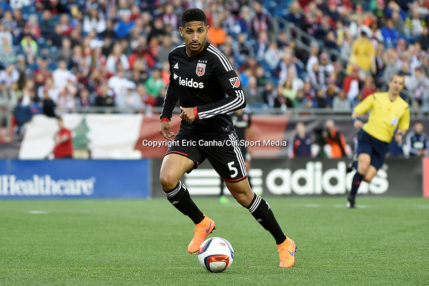 May 23, 2015 - Foxborough, Massachusetts, U.S. - D.C. United defender Sean Franklin (5) in game action during the MLS game between DC United and the New England Revolution held at Gillette Stadium in Foxborough Massachusetts. Eric Canha/CSM