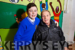 Corey O'Brien with his grandfather Thomas Ward  from Tralee at the CBS Grandparents day on Monday.