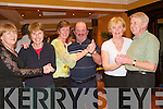 Ceili: Having a great night at the Comhaltas Ceili in the Arms Hotel, Listowel, on Saturday night were Margaret Culloty, Tralee, Marie ODonnell, Camp, Maura OSullivan, Blennerville, Ned Dolan, Brosna, Mary Sugrue, Abbeyfeale, and Patsy Enright, Lyreacrompane..