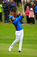 Carlota Ciganda (EUR) on the 1st fairway during Day 3 Singles at the Solheim Cup 2019, Gleneagles Golf CLub, Auchterarder, Perthshire, Scotland. 15/09/2019.<br /> Picture Thos Caffrey / Golffile.ie<br /> <br /> All photo usage must carry mandatory copyright credit (© Golffile | Thos Caffrey)
