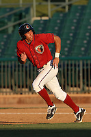 George Springer #2 of the Lancaster JetHawks runs the bases against the Stockton Ports at Clear Channel Stadium on July 8, 2012 in Lancaster, California. Lancaster defeated Stockton 10-8. (Larry Goren/Four Seam Images)