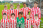 Foireann Baile an Fheirte?araigh/Maolche?adair under 12 team Primary Schools Football Finals at Austin Stack park on Thursday  : .Front row : Bre?anainn O? Bruic , Ferghal O? Cuanaigh , Franz Sauerland , Ruaidhri? O? Beaglaoich , Nokolia O? Conchu?ir . .Back row left to right : Pa?draig O? Cathalla?in , Liam O? Bambaire , Se?an O? hUallacha?in , Peter-Paul Sauerland , Cian Mac Dhuibh .