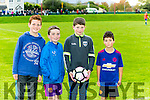 Darragh Cunnane, Ted Fitzgerald, Conor Foley and Jack Diggin enjoying the  Inter Firm seven a-side soccer blitz  in aid of local charities at the Low Field, Tralee on Saturday
