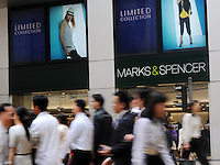 British retail chain Marks and Spencer in Central District of Hong Kong. It is the largest clothing retailer in the United Kingdom, as well as being an upmarket food retailer, and as of 2008, the 43rd largest retailer in the world..