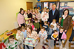 KIDS PLAY: Guests and children that attended the official opening of the Puffins Childcare Centre in Caherciveen on Friday last.