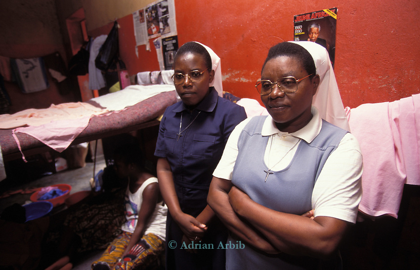 Some of the accused of the genocide in 1994 are women , inside Kigali prison.  Rwanda..In this case  2  catholic nuns  are implicated.
