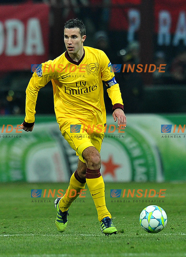 "Robin VAN PERSIE (Arsenal).Milano 15/02/2012 Stadio ""Giuseppe Meazza"".Champions League 2011/2012.Football Calcio Milan Vs Arsenal.Foto Insidefoto Alessandro Sabattini."