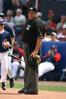March 20th 2008:  MLB Umpire Jerry Layne during a Spring Training game at Chain of Lakes Park in Winter Haven, FL.  Photo by:  Mike Janes/Four Seam Images