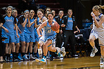 GRAND RAPIDS, MI - MARCH 18: Lauren Dillon (11) of Tufts University drives down the court during the Division III Women's Basketball Championship held at Van Noord Arena on March 18, 2017 in Grand Rapids, Michigan. Amherst College defeated Tufts University 52-29 for the national title. (Photo by Brady Kenniston/NCAA Photos via Getty Images)