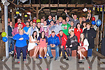 Darren Galvin, Tulligbeg, Killorglin seated centre who celebrated his 21st birthday with his family and friends in Kingston's bar Killorglin on Saturday night