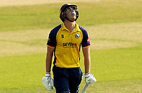 Frustration for Daniel Lawrence having been caught out during Essex Eagles vs Surrey, Vitality Blast T20 Cricket at The Cloudfm County Ground on 11th September 2020