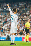 Cristiano Ronaldo of Real Madrid gestures during the La Liga 2017-18 match between Real Madrid and Real Betis at Estadio Santiago Bernabeu on 20 September 2017 in Madrid, Spain. Photo by Diego Gonzalez / Power Sport Images