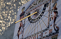 Numbers on an ornate sundial, Provence, France.