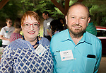 WATERTOWN,  CT-072118JS05--Dr. Stacy Taylor and her husband Rick Versailles of New Hartford, at a reception for Health Horizons International held at Camp Mataucha in Watertown. Health Horizons International is an NGO dedicated to improving the delivery of primary care in the Dominican Republic. <br /> Jim Shannon Republican American