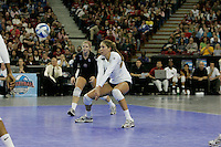 15 December 2007: Stanford Cardinal Alix Klineman (10) during Stanford's 25-30, 26-30, 30-23, 30-19, 8-15 loss against the Penn State Nittany Lions in the 2007 NCAA Division I Women's Volleyball Final Four championship match at ARCO Arena in Sacramento, CA.