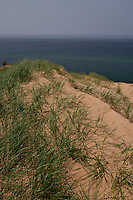 The Grand Sable Dunes drop to Lake Superior in Pictured Rocks National Lakeshore near Grand Marais Michigan.