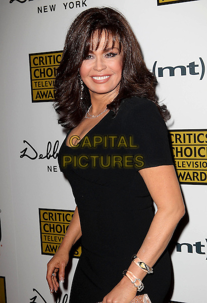 Marie Osmond<br /> 3rd Annual Critics' Choice Television Awards held at The Beverly Hilton Hotel, Beverly Hills, California, USA, 10th June 2013.<br /> half length black dress <br /> CAP/ADM/KB<br /> &copy;Kevan Brooks/AdMedia/Capital Pictures