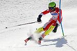Gakuta Koike (JPN),<br /> MARCH 17, 2018 - Alpine Skiing : <br /> Men's Slalom Standing Run1 <br /> at Jeongseon Alpine Centre  <br /> during the PyeongChang 2018 Paralympics Winter Games in Pyeongchang, South Korea. <br /> (Photo by Sho Tamura/AFLO SPORT)