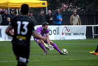 Team Wellington goalkeeper Scott Basalaj during the Oceania Football Championship final (first leg) football match between Team Wellington and Lautoka FC at David Farrington Park in Wellington, New Zealand on Sunday, 13 May 2018. Photo: Dave Lintott / lintottphoto.co.nz