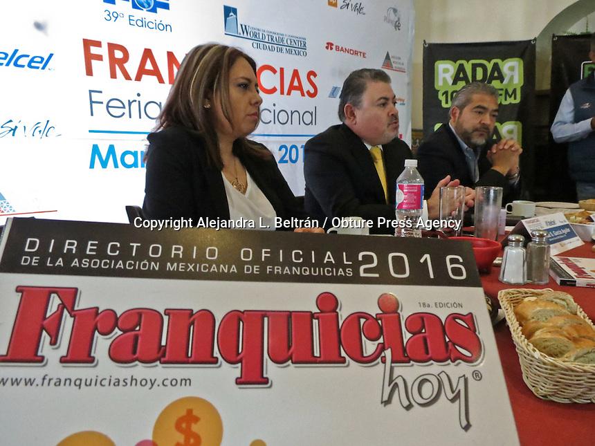 Querétaro, Qro. 25 de febrero 2016. El director de la Feria Internacional de Franquicias, Jude García, anunció hoy que la próxima edición de este evento se celebrará el 3, 4 y 5 de marzo en la Ciudad de México. Foto: Alejandra L. Beltrán / Obture Press Agency