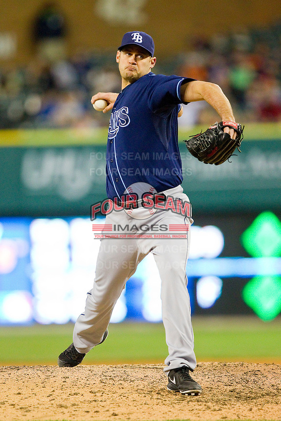 Tampa Bay Rays relief pitcher Jamey Wright (35) in action against the Detroit Tigers at Comerica Park on June 4, 2013 in Detroit, Michigan.  The Tigers defeated the Rays 10-1.  Brian Westerholt/Four Seam Images