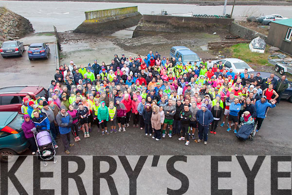 Just under 300 people turned up for the 5K run/walk at the Cahersiveen Boat Shed on St Stephens Day to raise money for the Cahersiveen Rowing Club and Alzheimer's Ireland.