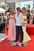 LOS ANGELES, CA. August 22, 2018: Simon Cowell, Alesha Dixon & Amanda Holden at the Hollywood Walk of Fame Star Ceremony honoring Simon Cowell.