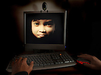 "A view of computer screen showing the  Girl avatar ""Sweetie"" from Netherlands´s ONG Terre des Hommes official website on 22 October, 2014 in Amsterdam,Netherlands. The Australian Scott Robert Hansen is belived to be the first to have convinctd as the result of an undercover sting in charity workes posed online as a 10-year-old Filipina. Details of 1,000 men who contacted the fake child, nicknamed Sweetie were sent to police around the word - Photo by Paulo Amorim"