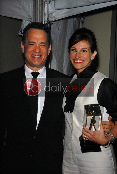 Tom Hanks and Julia Roberts<br /> at the ASC 25th Annual Outstanding Achievement Awards, Grand Ballroom, Hollywood. CA. 02-13-11<br /> David Edwards/DailyCeleb.com 818-249-4998