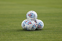 Match balls ahead of AFC Wimbledon vs Wycombe Wanderers, Sky Bet EFL League 1 Football at the Cherry Red Records Stadium on 31st August 2019