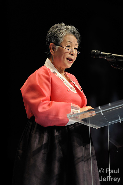 [pending] speaks during the 2010 United Methodist Women's Assembly in St. Louis, Missouri.