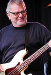 Conrad Lozano--bass of Los Lobos, live concert Spring Grüv, Canyons Resort, Park City, Utah