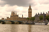 Big Ben, House of Parliament and the Thames River. London, England