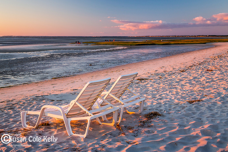 Sunset at Skacket Beach in Brewster, Cape Cod, Massachusetts, USA