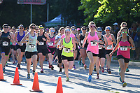 NWA Democrat-Gazette/J.T. WAMPLER Competitors began Sunday June 11, 2017 at the Ladies DU Fayetteville duathlon for women. Around 200 women competed in the 2-mile run / 11-mile bicycle ride / 2-mile run format race on the trails at Lake Fayetteville.