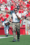 Wisconsin Badgers head coach Bret Bielema during an NCAA football game against the Fresno State Bulldogs on September 12, 2009 at Camp Randall Stadium in Madison, Wisconsin. The Badgers won in double overtime 34-31. (Photo by David Stluka)