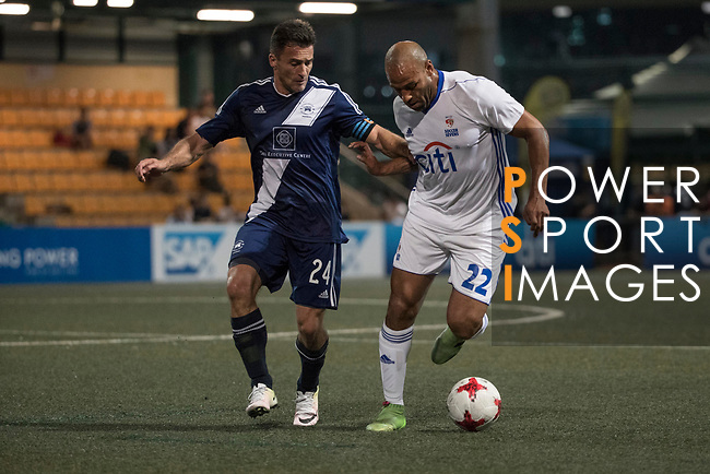 Citi All Stars (in white) vs HKFC Masters (in navy blue) during their Masters Tournament match, part of the HKFC Citi Soccer Sevens 2017 on 26 May 2017 at the Hong Kong Football Club, Hong Kong, China. Photo by Chris Wong / Power Sport Images