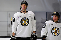 September 15, 2017: Boston Bruins left defenseman Zdeno Chara (33) catches his breath during the Boston Bruins training camp held at Warrior Ice Arena in Brighton, Massachusetts. Eric Canha/CSM