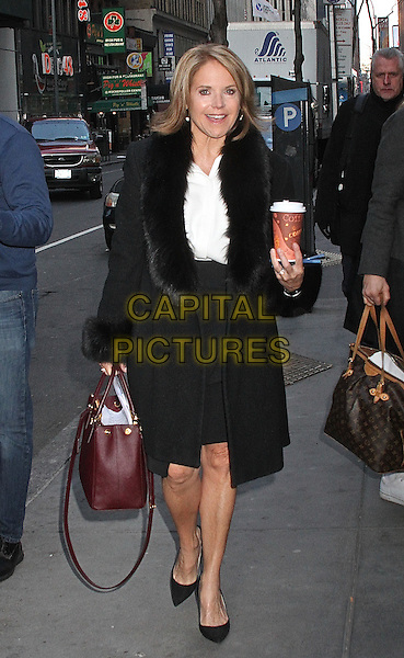 NEW YORK, NY - MARCH 7: Katie Couric spotted arriving at NBC Studios in New York, New York on March 7, 2016. <br /> CAP/MPI/RMP<br /> &copy;RMP/MPI/Capital Pictures