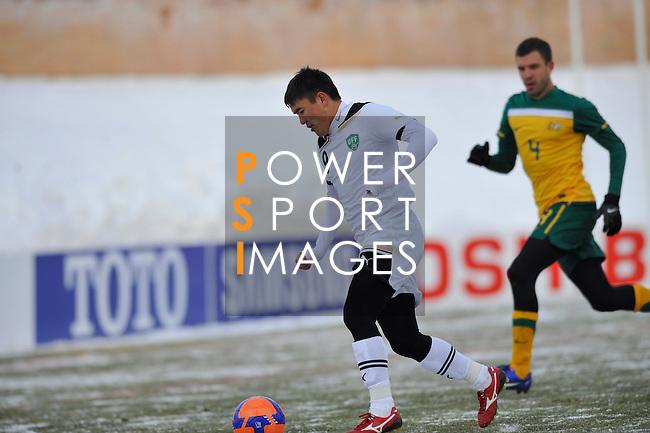 Uzbekistan vs Australia during the Olympic Qualifying 2012 Group B stage match on February 5, 2012 at the JAR Stadium in Tashkent, Uzbekistan. Photo by World Sport Group