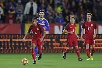 Carson, CA - Sunday January 28, 2018: Tyler Adams during an international friendly between the men's national teams of the United States (USA) and Bosnia and Herzegovina (BIH) at the StubHub Center.