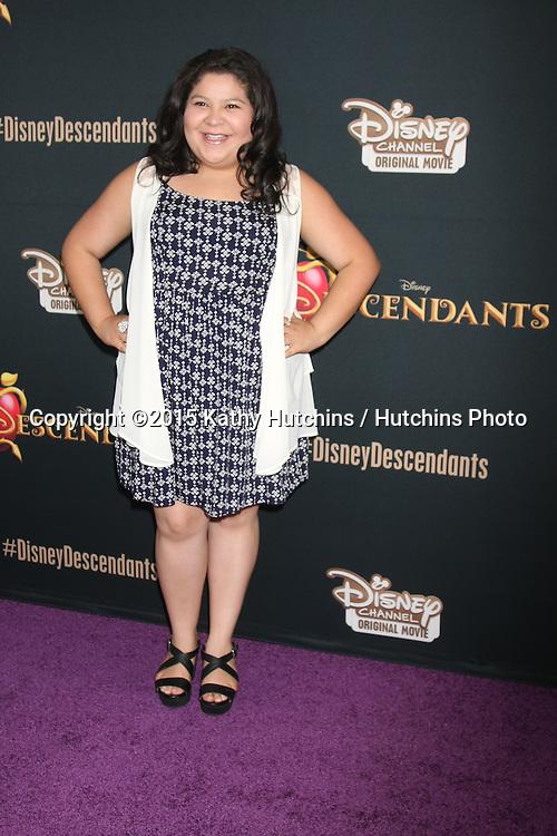 "LOS ANGELES - JUL 24:  Raini Rodriguez at the ""Descendants"" Premiere Screening at the Walt Disney Studios on July 24, 2015 in Burbank, CA"