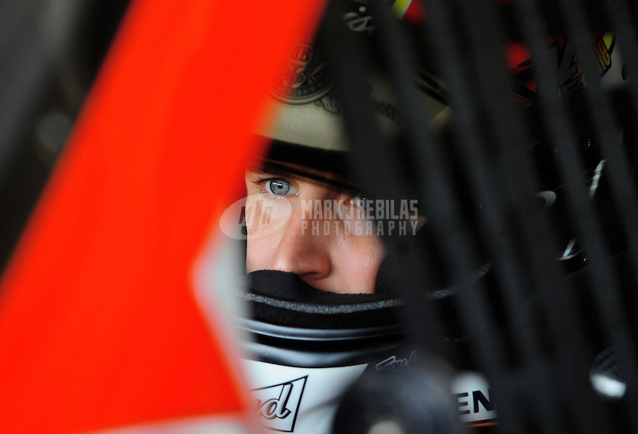 Oct. 10, 2009; Fontana, CA, USA; NASCAR Sprint Cup Series driver Kasey Kahne during practice for the Pepsi 500 at Auto Club Speedway. Mandatory Credit: Mark J. Rebilas-