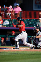 Erie SeaWolves Chace Numata (10) at bat during an Eastern League game against the Richmond Flying Squirrels on August 28, 2019 at UPMC Park in Erie, Pennsylvania.  Richmond defeated Erie 6-4 in the first game of a doubleheader.  (Mike Janes/Four Seam Images)