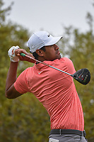 Tony Finau (USA) watches his tee shot on 10 during day 3 of the Valero Texas Open, at the TPC San Antonio Oaks Course, San Antonio, Texas, USA. 4/6/2019.<br /> Picture: Golffile | Ken Murray<br /> <br /> <br /> All photo usage must carry mandatory copyright credit (© Golffile | Ken Murray)