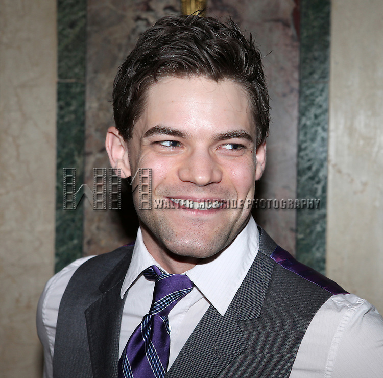 Jeremy Jordan.attending the 2012 New York Theatre Workshop Spring Gala Honoring Barbara Warner Howard & Thomas Schumacher at the Plaza Hotel in New York City on 5/22/2012