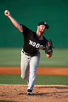 Chattanooga Lookouts pitcher Kohl Stewart (13) delivers a pitch during a game against the Jackson Generals on April 29, 2017 at The Ballpark at Jackson in Jackson, Tennessee.  Jackson defeated Chattanooga 7-4.  (Mike Janes/Four Seam Images)