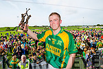 Daniel Collins Kilmoyley receives the Man of the match award in the County Senior Hurling Final at Abbeydorney on Sunday.