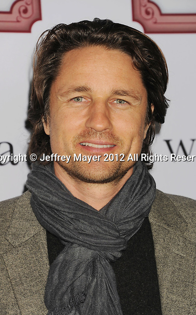 LOS ANGELES, CA - DECEMBER 08: Martin Henderson attends Charlie Ebersol's 'Charlieland' Birthday Party And Charity: Water Fundraiser on December 8, 2012 in Los Angeles, California.